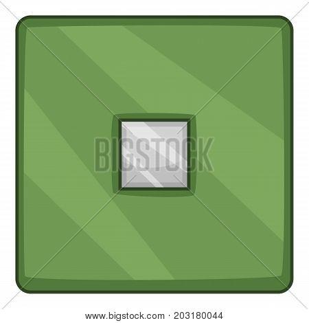 Modern military chips icon. Cartoon illustration of modern military chips vector icon for web