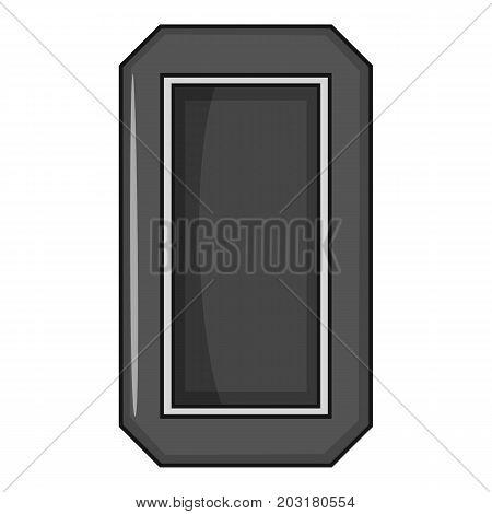 Black microprocessor chips icon. Cartoon illustration of black microprocessor chips vector icon for web