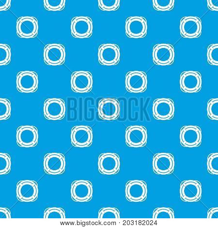 Lifebuoy pattern repeat seamless in blue color for any design. Vector geometric illustration