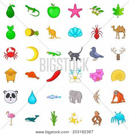 Flamingo icons set. Cartoon style of 36 flamingo vector icons for web isolated on white background