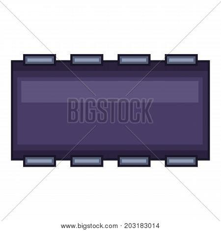 Dark blue chip icon. Cartoon illustration of dark blue chip vector icon for web