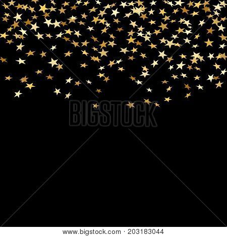 Gold Star Confetti Background