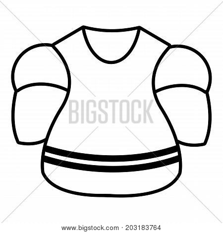 Ice hockey uniform icon. Outline illustration of ice hockey uniform vector icon for web design isolated on white background