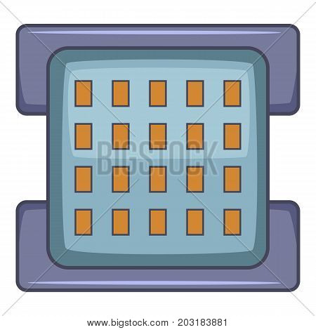 Square chips icon. Cartoon illustration of square chips vector icon for web