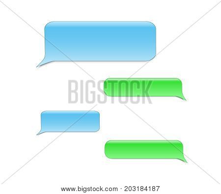 Short Message Service Bubbles. Vector phone chat bubbles