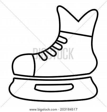 Ice hockey skate icon. Outline illustration of ice hockey skate vector icon for web design isolated on white background