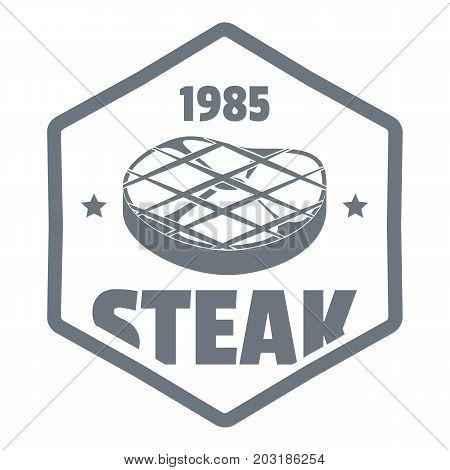 1985 steak logo. Simple illustration of 1985 steak vector logo for web design isolated on white background