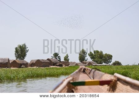 A fishing vilage on Niger river in Africa