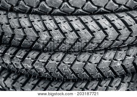 Tires Of Motor Bike.