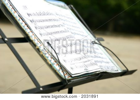 Note Papers On Blurred Background