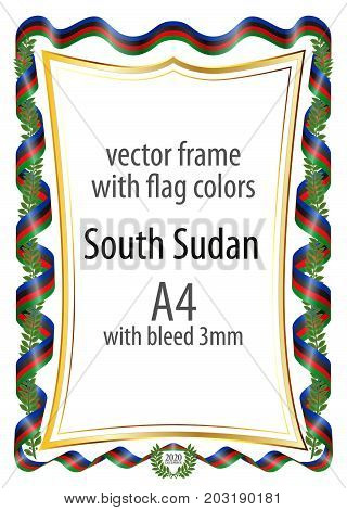 Frame and border of ribbon with the colors of the Sri Lanka flag