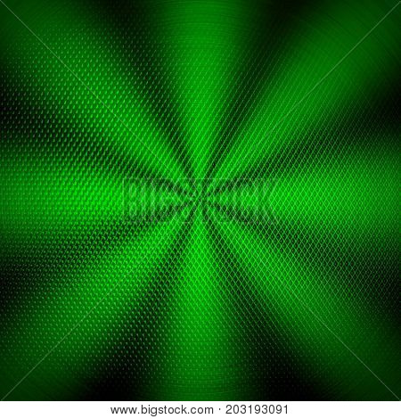 green iron mesh with rays background