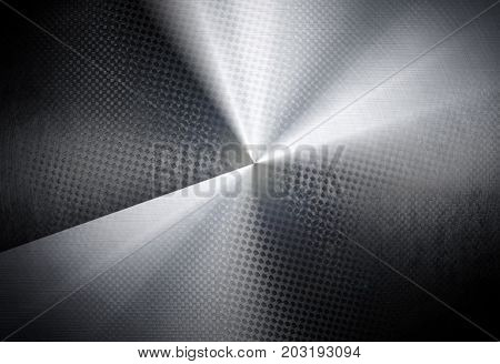 metal plate with light background