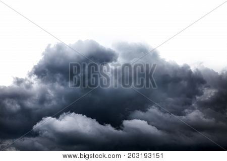 Storm Cloud closeup Isolated on the White Background