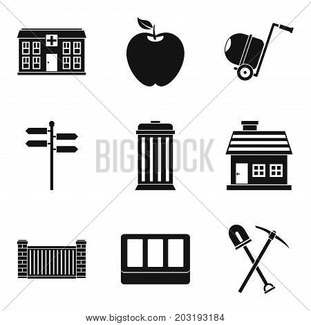 Foundation icons set. Simple set of 9 foundation vector icons for web isolated on white background