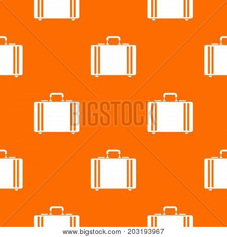 Diplomat pattern repeat seamless in orange color for any design. Vector geometric illustration