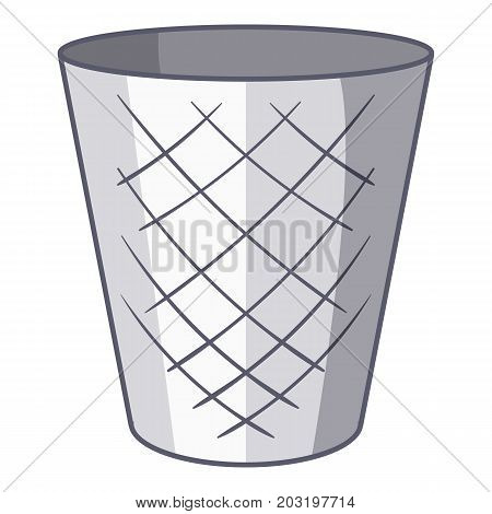Trash bin icon. Cartoon illustration of trash bin vector icon for web