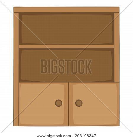 Bookcase icon. Cartoon illustration of bookcase vector icon for web