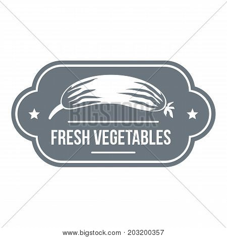 Fresh vegetables logo. Simple illustration of fresh vegetables vector logo for web design isolated on white background