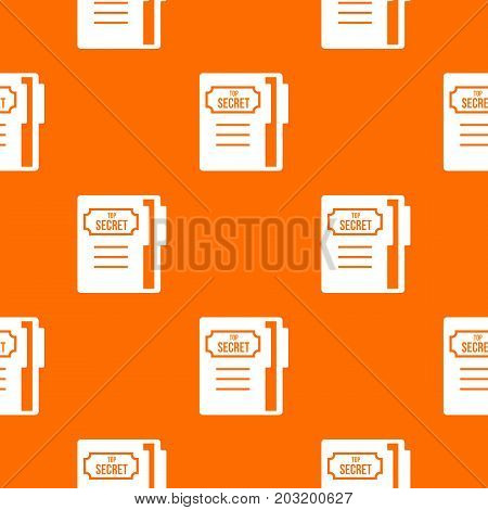 Notepad pattern repeat seamless in orange color for any design. Vector geometric illustration