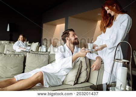 All inclusive luxury service in resting room