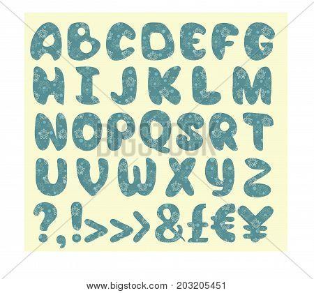 Vector alphabet set. Capital letters with decorative.