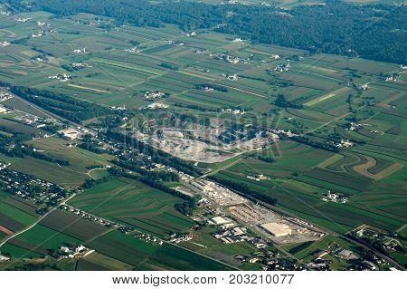 Aerial View Of Farmland