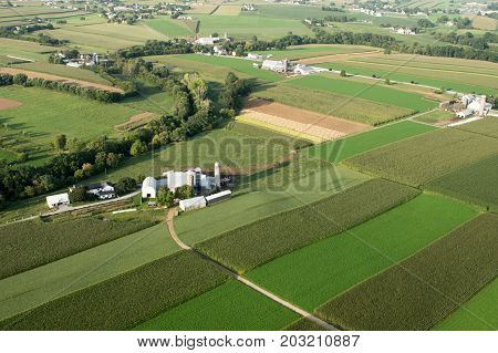 Farm Land From Above
