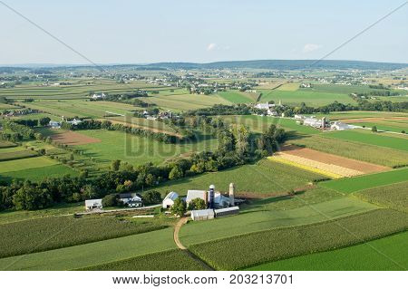 Lancaster County Farmland From Above