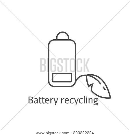 Battery Low Eco Recycling Pictogram.