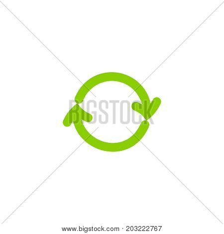 Recycling Ecology Thin Line Vector Icon.