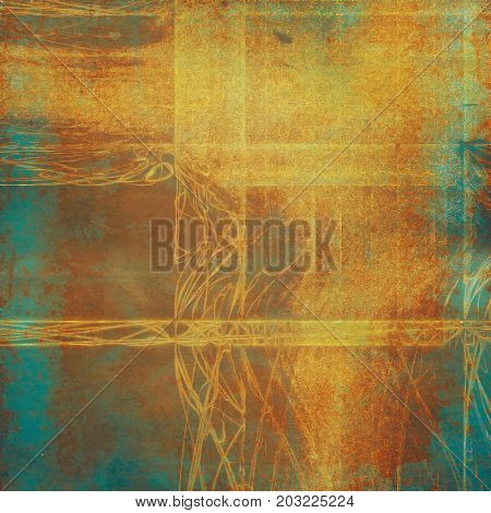 Background with dirty grunge texture, vintage style elements and different color patterns