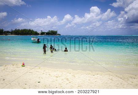 Tropical Sea In Mauritius Island