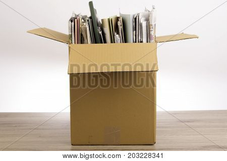 Documents File in the Brown box in office