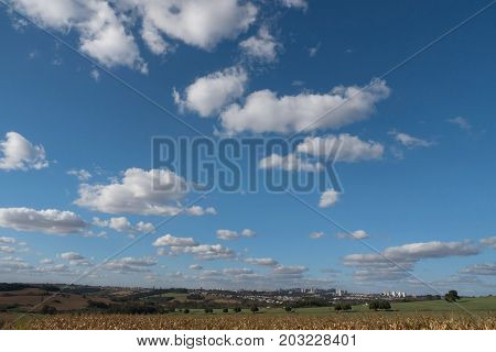 Rural scene nature sky clouds outdoor land