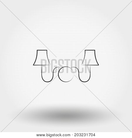 Sconce. Wall Light. Icon for web and mobile application. Vector illustration on a white background. Line.