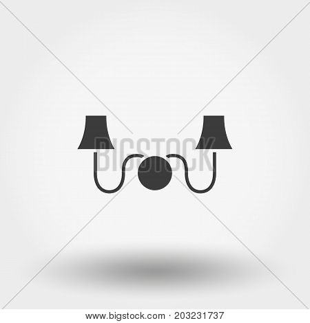 Sconce. Wall Light. Icon for web and mobile application. Vector illustration on a white background. Flat design style