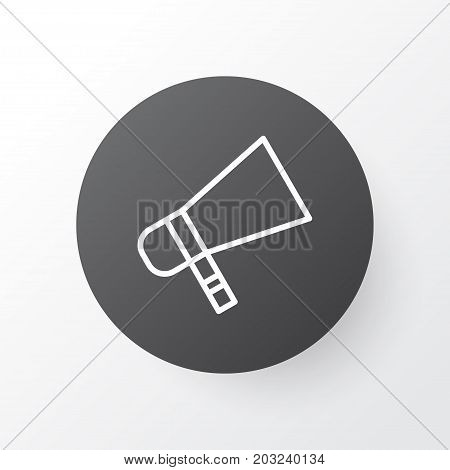 Premium Quality Isolated Bullhorn Element In Trendy Style.  Megaphone Icon Symbol.