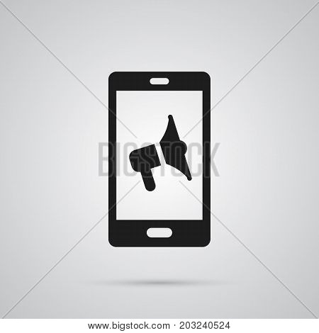 Isolated Mobile Marketing Icon Symbol On Clean Background