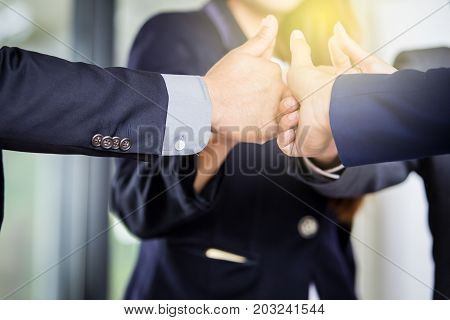 Group of people in the business team work concept.