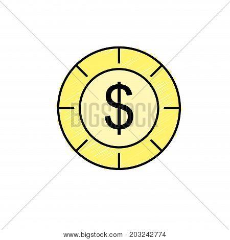coin cash money to financial economy vector illustration