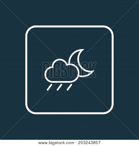 Premium Quality Isolated Rainstorm Element In Trendy Style.  Drizzle Outline Symbol.