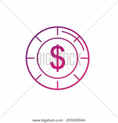 line coin cash money to financial economy vector illustration