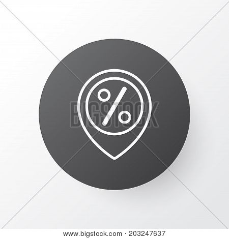 Premium Quality Isolated Discount Location Element In Trendy Style.  Sales Location Icon Symbol.