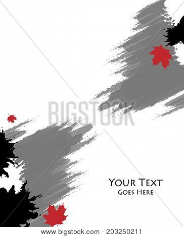 Grungy autumn vector background. Templates for brochures, annual reports, magazines. Eps10