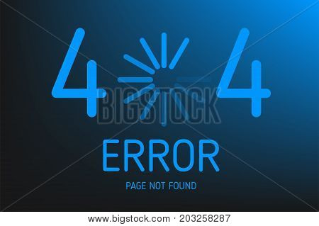 404  error not found page with icon download design vector