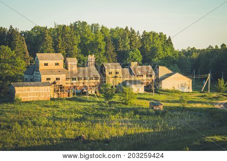 Old Soviet Abandoned Collective Farm