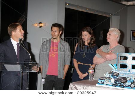 LOS ANGELES - MAY 17:  Brad Bell, Scott Clifton, Heather Tom, Susan Flannery at the Bold & Beautiful Celebration of their Emmy Nominations at CBS Television City on May 17, 2011 in Los Angeles, CA