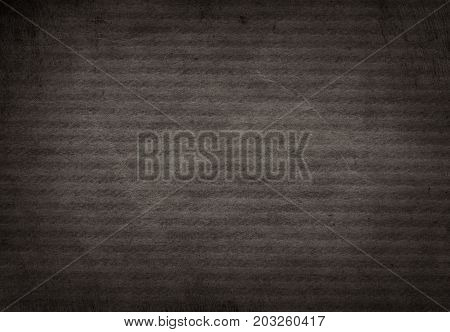 Dark grunge black striped recycled parchment paper texture