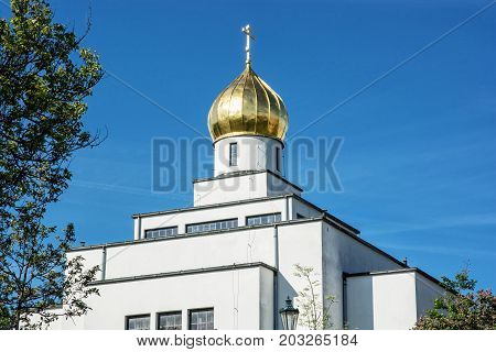 Saint Wenceslas orthodox cathedral in Brno Czech republic. Religious architecture.